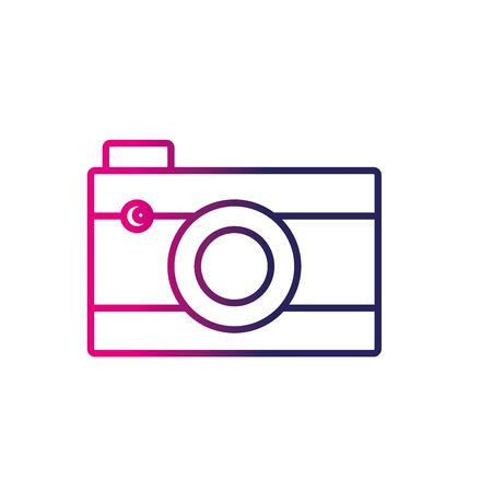 camera film: line digital camera technology to photography icon Illustration