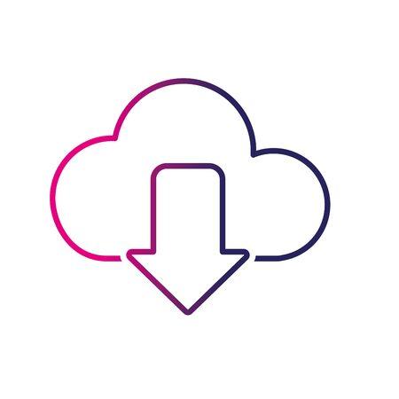 line cloud data digital technology server