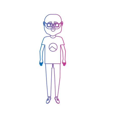 line man with t-shirt and pants design