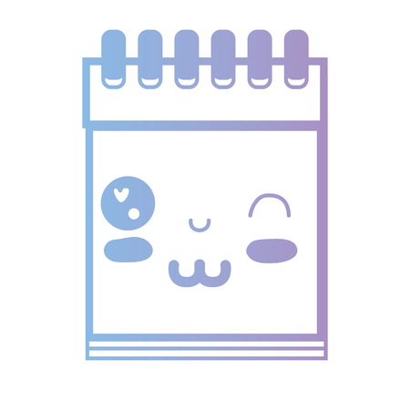 paper note: line kawaii cute funny notebook tool