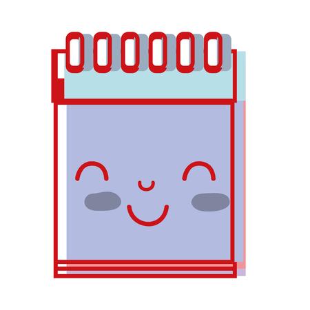 paper note: kawaii cute happy notebook tool