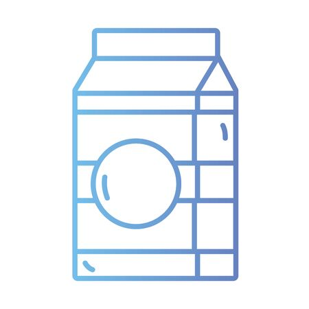 line milk box with natural nutrition Illustration