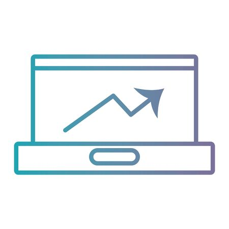 laptop screen: line laptop electronic technology icon
