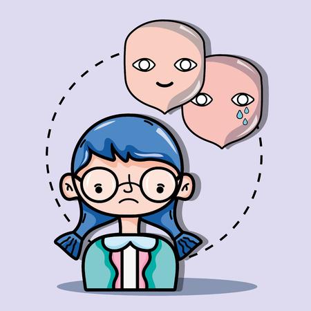 psychology treatment to analysis mental problem vector illustration