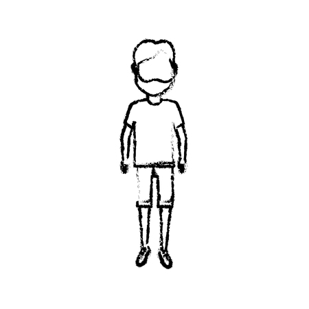 figure man with t-shirt and pants design