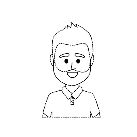 dotted shape avatar man with t-shirt design