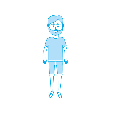 silhouette man with t-shirt and short design
