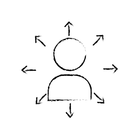 figure teamwork person pictogram to social business connection Illustration