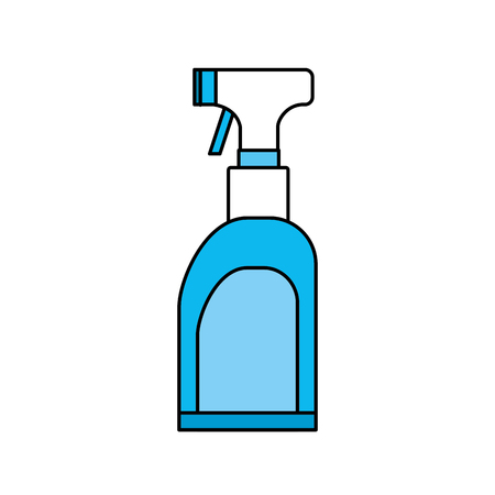 spray soap to clean clothes Illustration