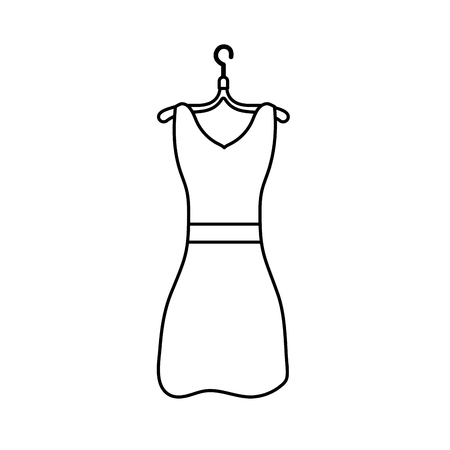 line woman dress casual design style