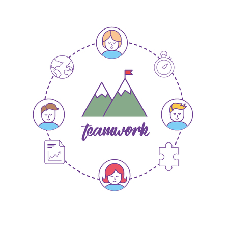 set teamwork communication business to social group