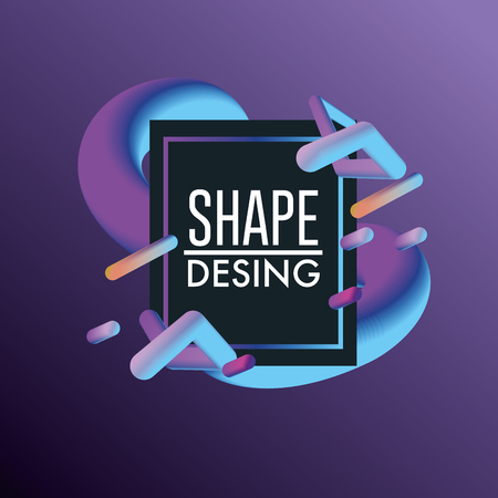 abstract shape decoration backgroun design