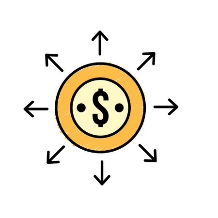 finance coin currency cash money Illustration