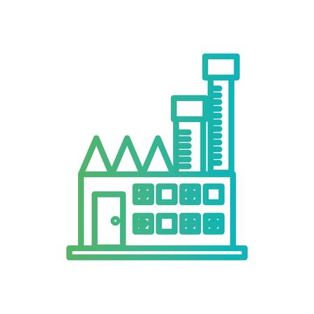 ライン工場の有毒汚染産業