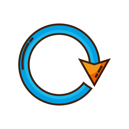 color arrow circle sign loading progress Illustration
