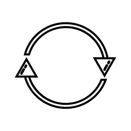 line arrows in circle symbol of loading progress Illustration