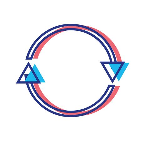 color arrows in circle symbol of loading progress