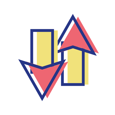 color arrows loading in process icon