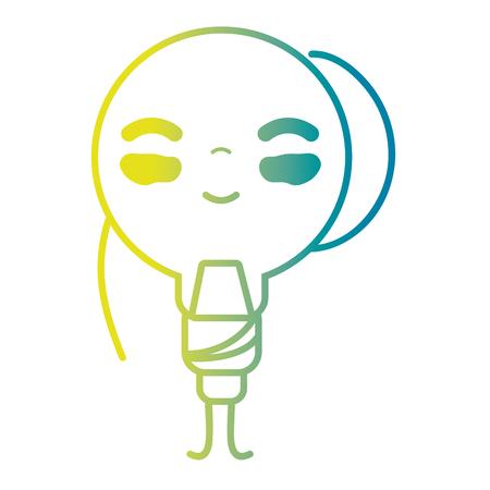 line cute happy bulb energy