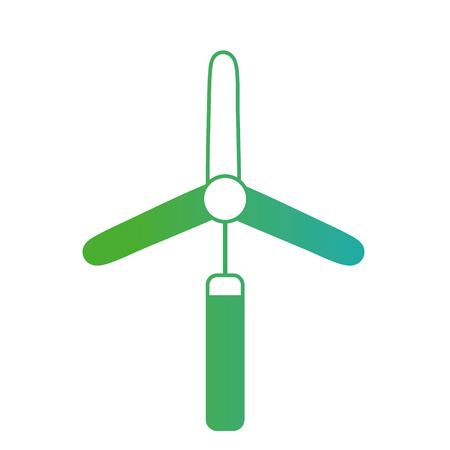 line windpower element to environment care Illustration