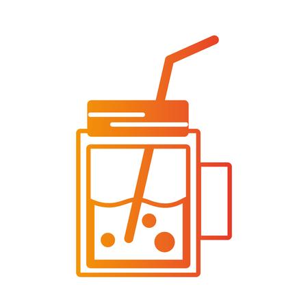 Fresh smoothie drink vector illustration Illustration