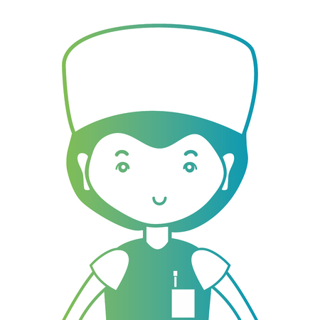 line man doctor with uniform and hairstyle design Illustration