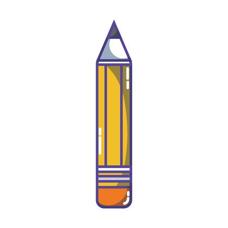 pencil school tool object design Illustration