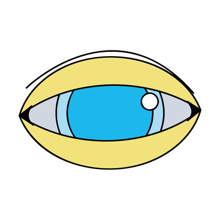human eye to optical vision icon vector illustration