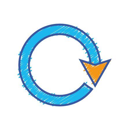 color arrow circle sign loading progress vector illustration Illustration