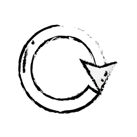 figure arrow circle sign loading progress vector illustration
