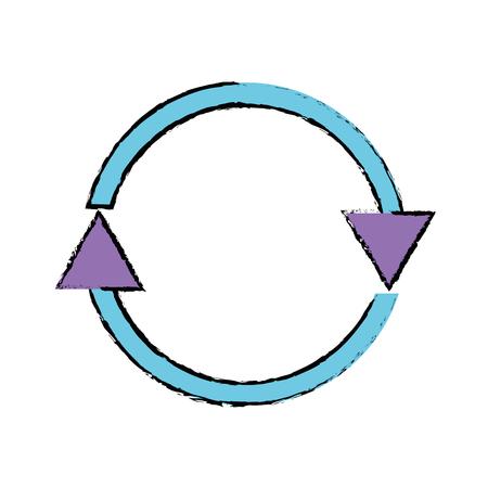 color arrows in circle symbol of loading progress vector illustration Illustration