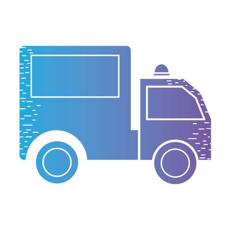 line trunk vehicle transportation to delivery Illustration