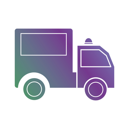 line trunk vehicle transportation to delivery vector illustration