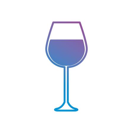 line wine glass beverage liquor vector illustration