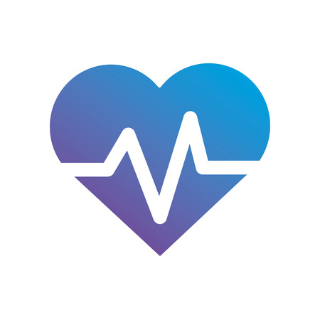 contour heartbeat to vital frequency sign vector illustration