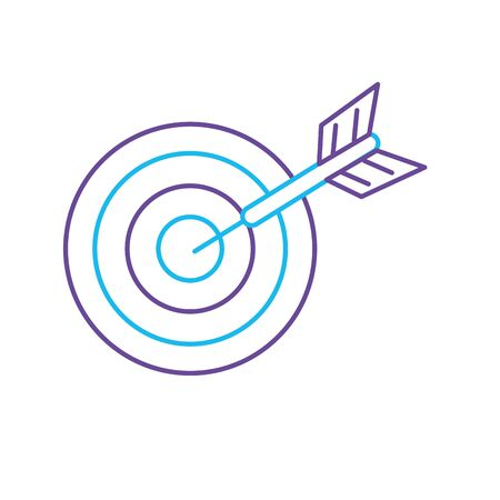 objetivo: line dart target board to strategy competition vector illustration Vectores