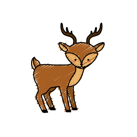 cute: cute deer wild animal icon