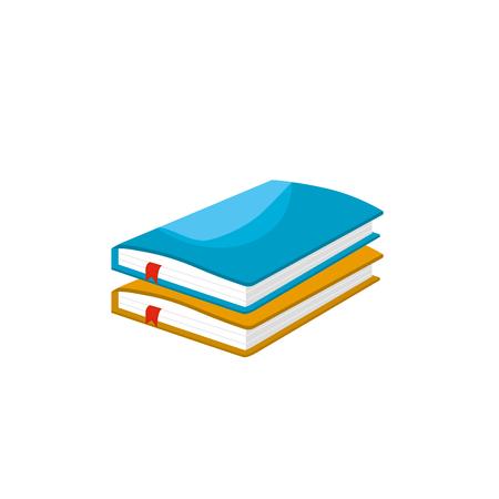 vecor: notebooks paper document notes object vecor illustration Illustration