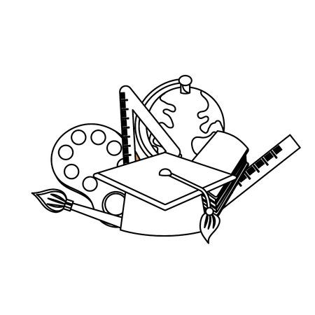line school tools to learn class education vector illustration Illustration