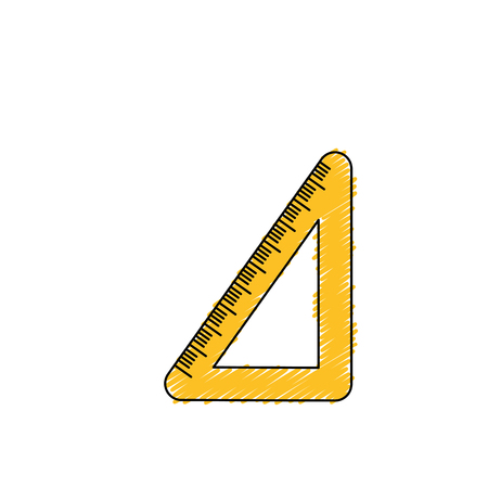 education: school triangle ruler object design