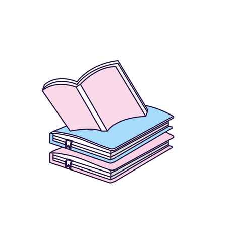 education notebooks object with notepaper design Illustration