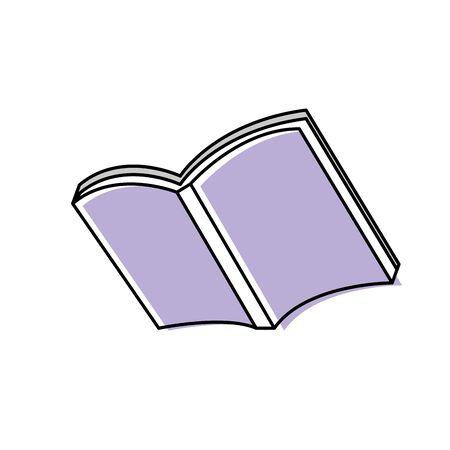 vecor: open notebook paper document notes object vecor illustration