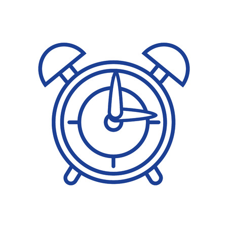 silhouette round clock alarm object design vector illustration