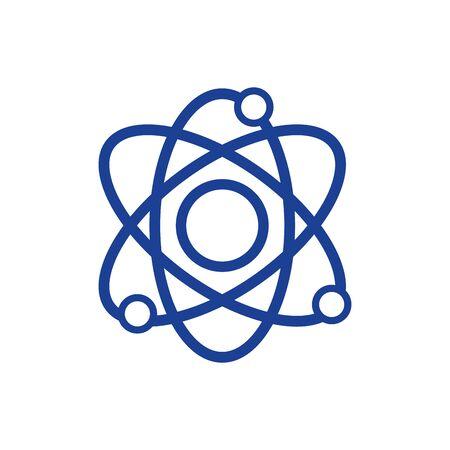 silhouette physics orbit atom to chemistry education vector illustration