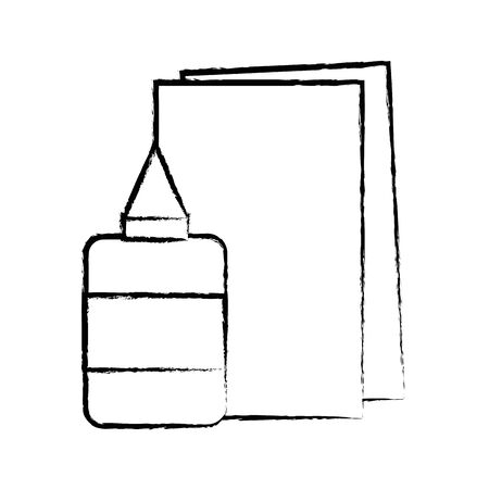 figure glue and cardboard scchool utensils to education