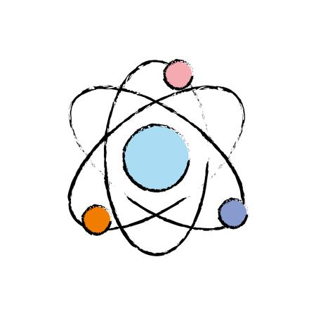 physics orbit atom to chemistry education vector illustration Illustration