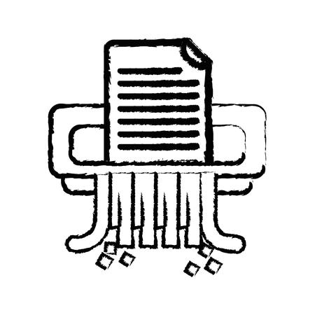 figure office paper shredder machine design vector illustration Иллюстрация