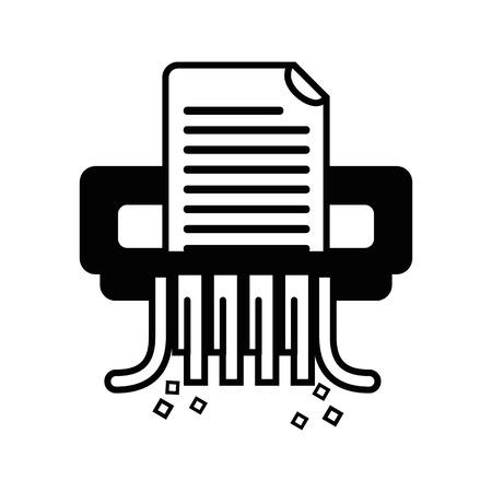 contour office paper shredder machine design vector illustration