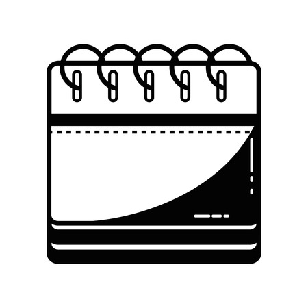 contour calendar information to organizer event day vector illustration Illustration