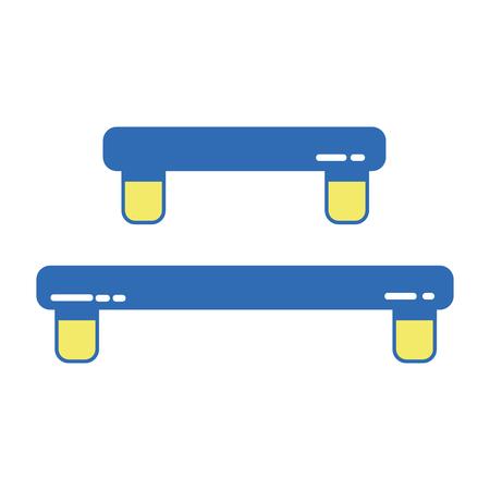 wood shelf table design vector illustration icon